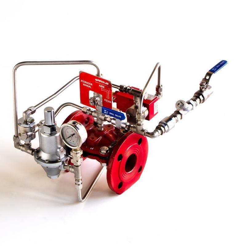 Valvula de alivio sistema contra incendio